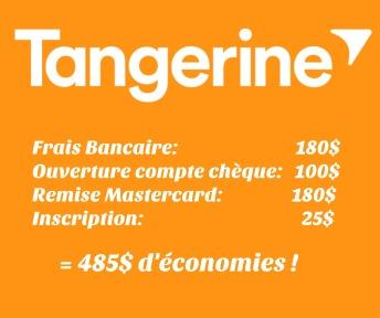 Économies en un an avec Tangerine